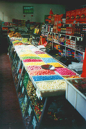 The candy department at the pickle market
